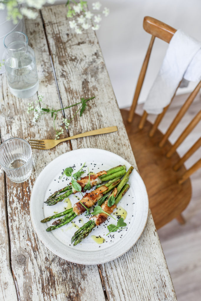 grilled asparagus with rhubarb bbq sauce