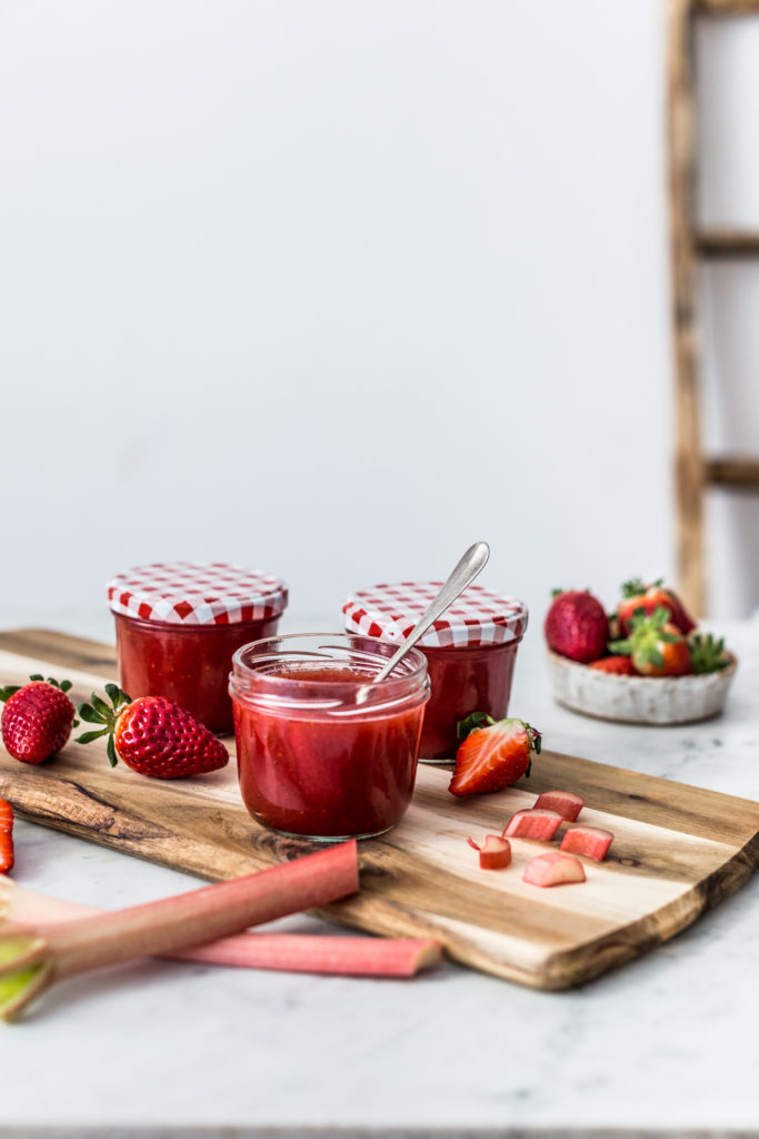 strawberry and rhubarb jam