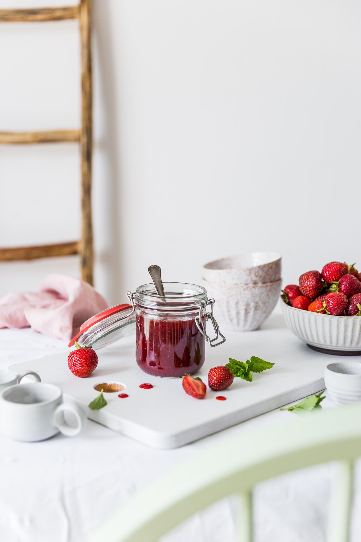 Jahodový džem s trstinovým cukrom
