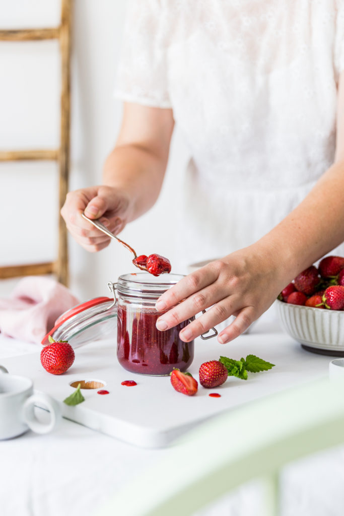 strawberry jam with cane sugar