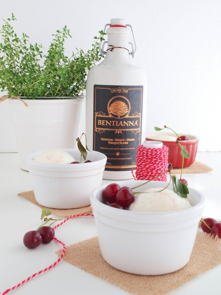 jogurtová zmrzlina s Bentiannou