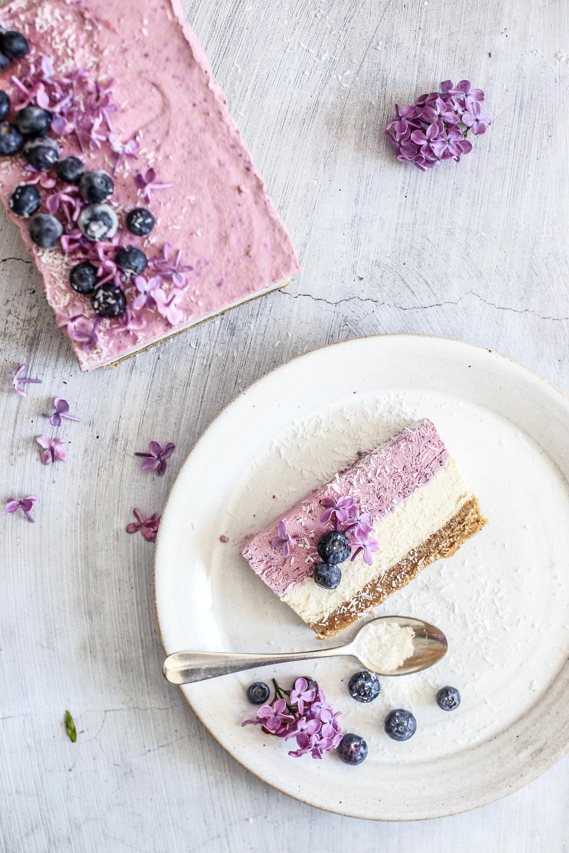 Čučoriedkový cheesecake bez mlieka a bez lepku