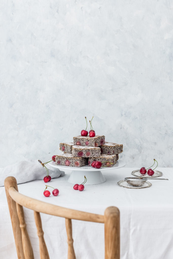 poppy seed & cherry cake