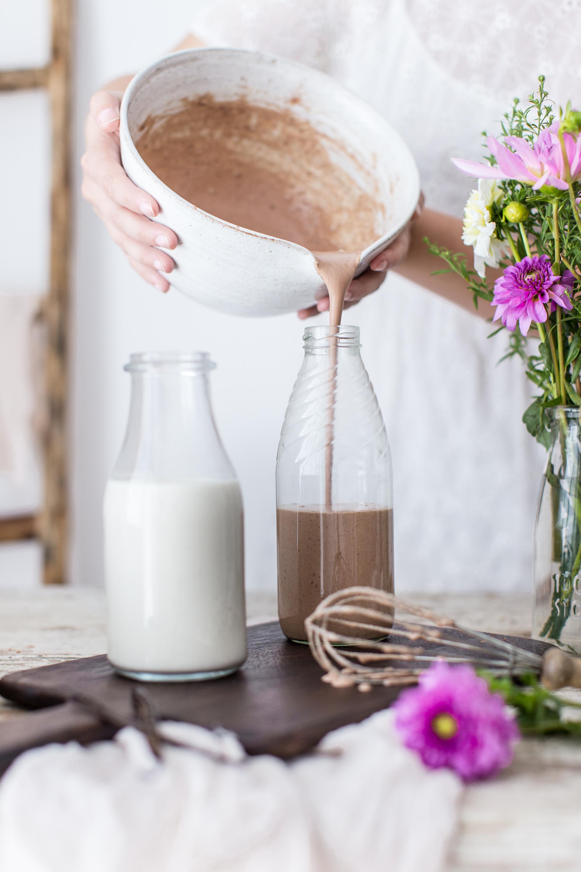 Domáce krémové mlieko z kešu orechov