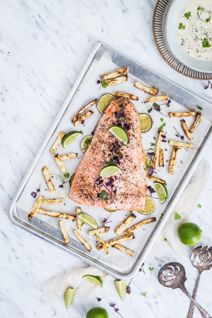 salmon with homemade mayo