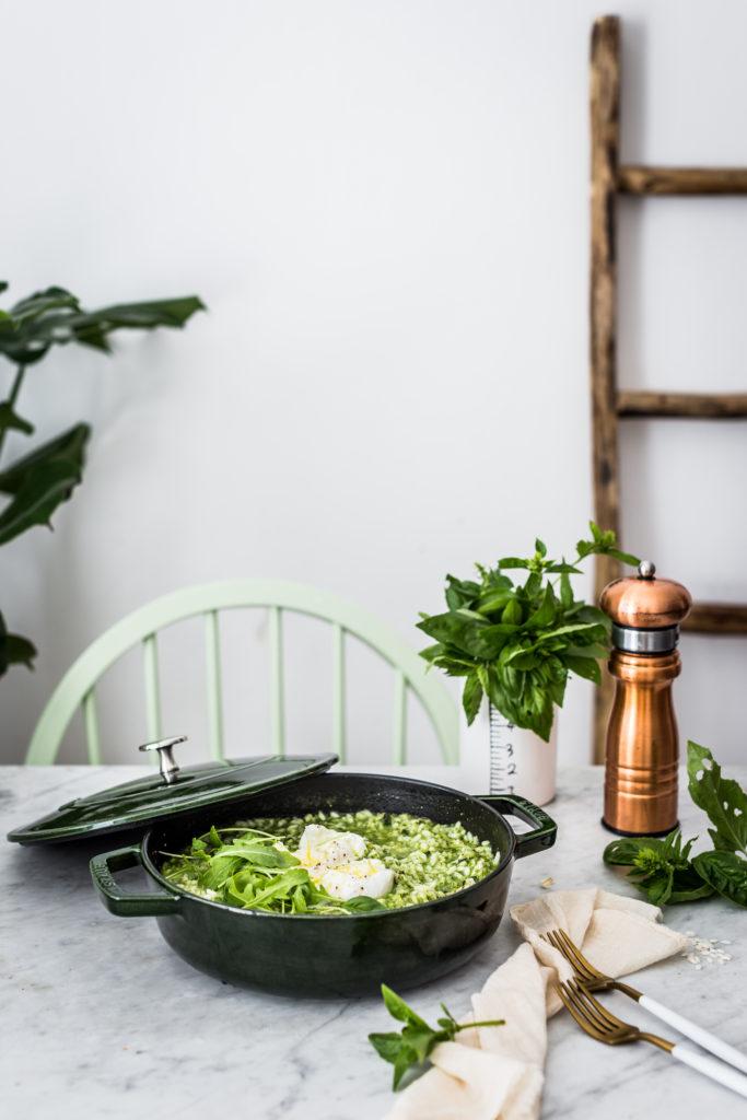 basil pesto risotto