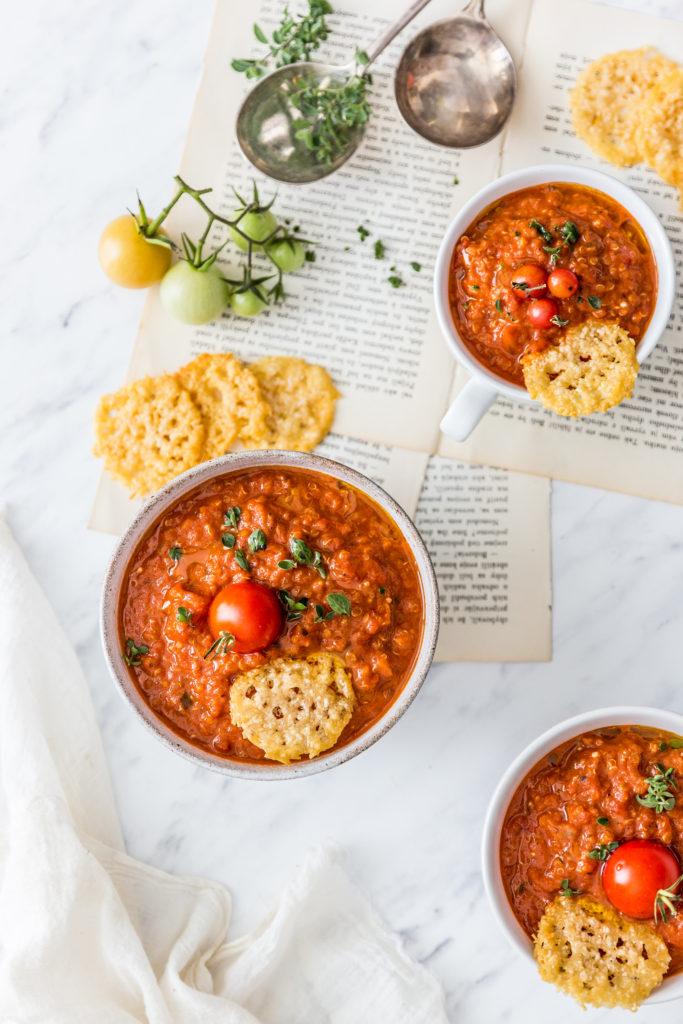tomatoe quinoa soup