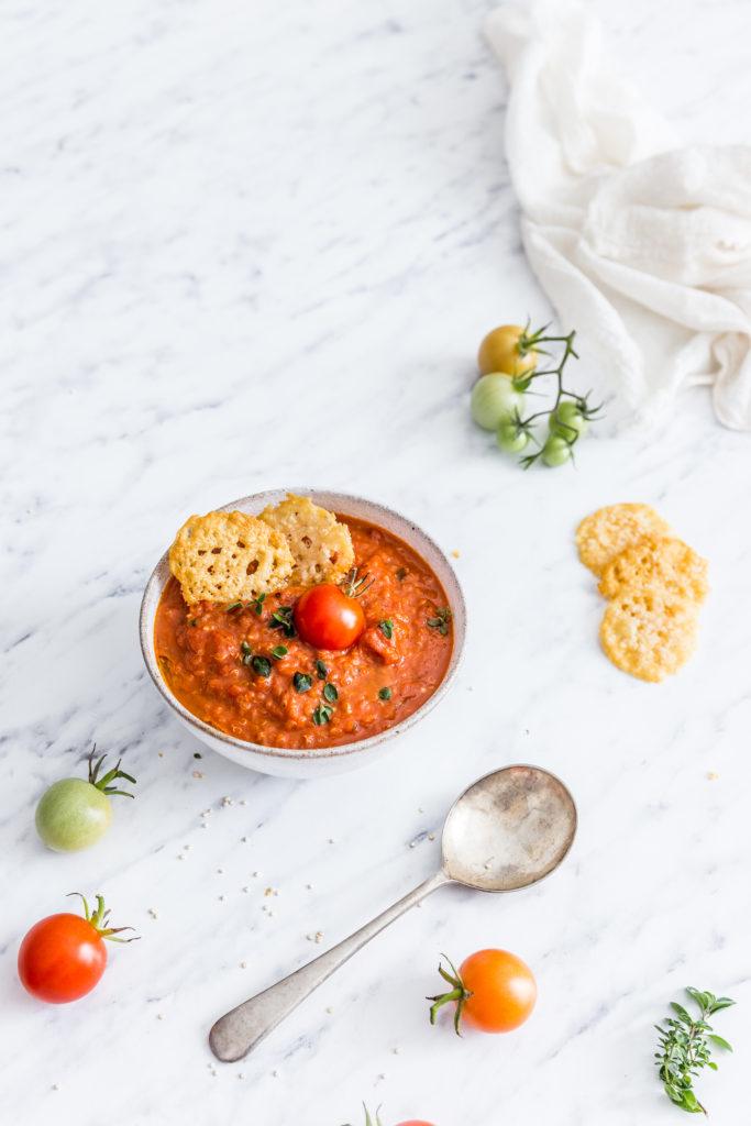 Paradajková polievka s quinoou