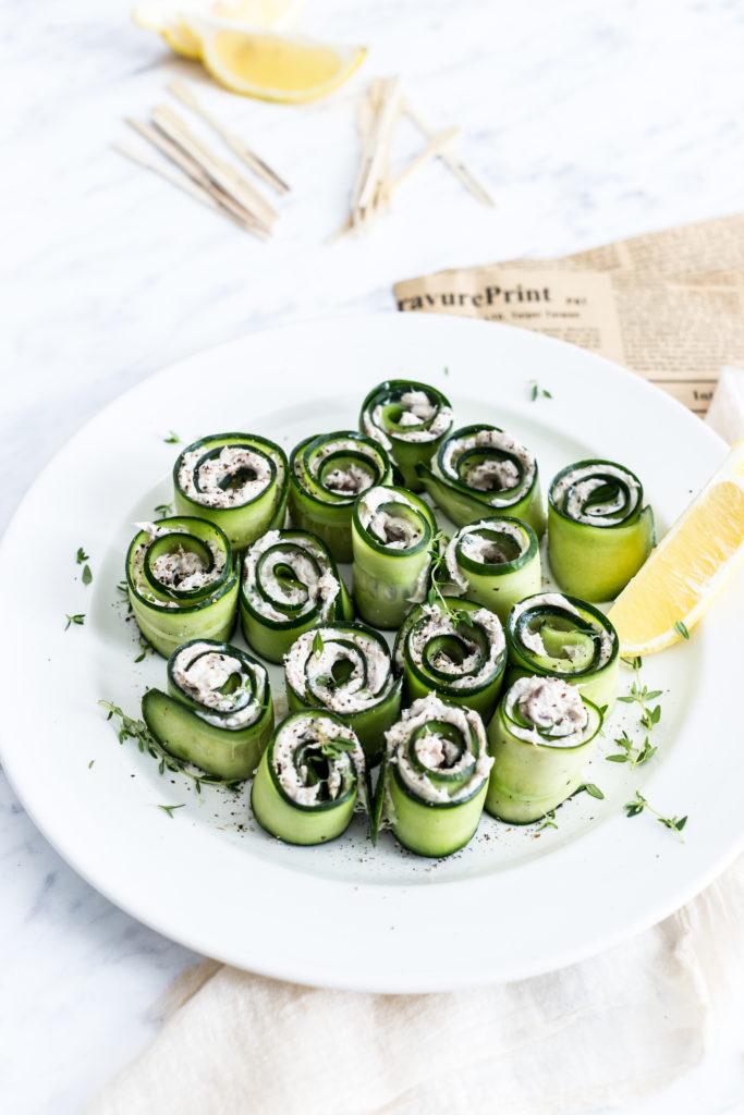 uhorkové jednohubky 3