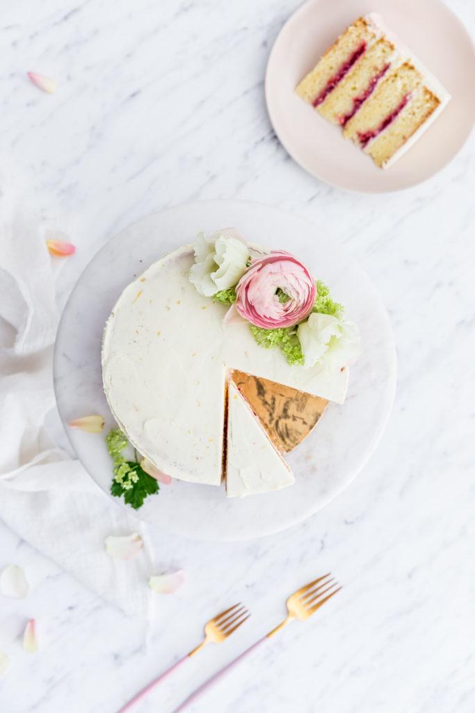 citrónovo malinová torta