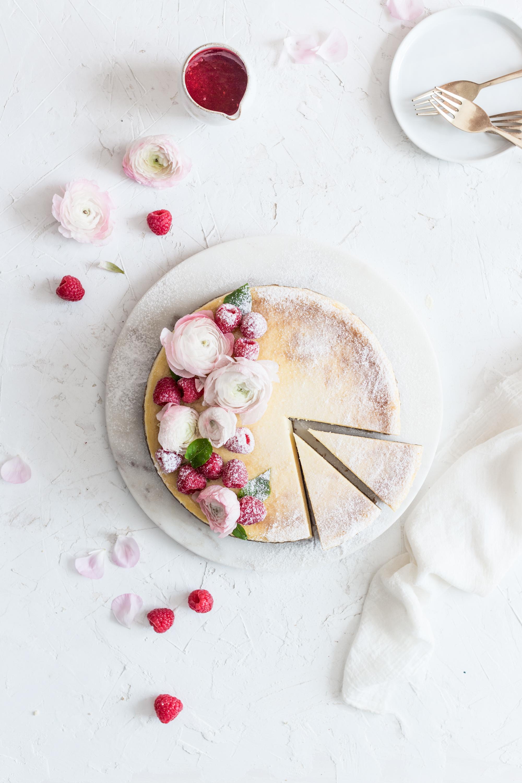 Cheesecake s malinovovu omáčkou